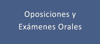 Oposiciones y exámenes orales