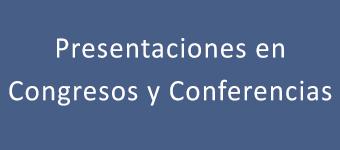 Presentaciones en congresos y conferencias